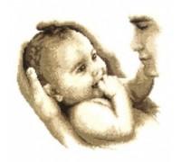 Father's Cuddle - 2002\70.174 - 14ct aida