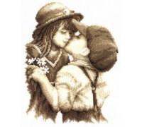 First Kiss Sepia - 2002\75.175 - 14ct aida