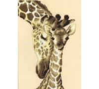 Giraffe Family - 2002\75.444 - 14ct aida