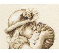 I Love You Kitty - 2002\75.012 - 14ct aida