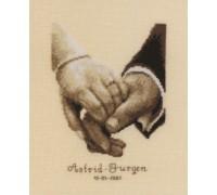Wedding Happiness - 2002\45.158 - 18ct aida