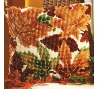 Autumn Leaves Chunky Cross Stitch Cushion - 1200/969