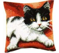 Black and White Cat Chunky Cross Stitch - 1200/986