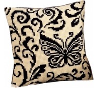 Blackwork Butterfly Chunky Cross Stitch - 1200/941