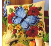 Blue Butterfly Chunky Cross Stitch - 1200/644