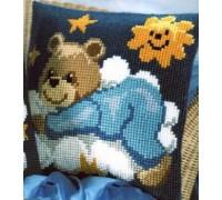 Blue Sleepy Bear Chunky Cross Stitch - 1200/610