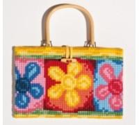 Bright Flowers Chunky Cross Stitch Handbag - 1221/6604