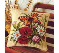Butterfly and Flowers Chunky Cross Stitch - 1200/496