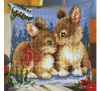 Christmas Bunnies Chunky Cross stitch - 1200/782