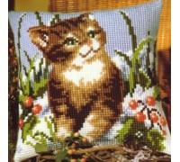 Christmas Kitten Chunky Cross Stitch - 1200/648