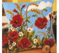 Cornfield with Poppies Chunky Cross stitch - 1200/759