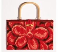 Embossed Flowers Chunky Cross Stitch Handbag - 1221/6603