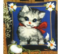 Happy Kitten Chunky Cross stitch - 1200/680