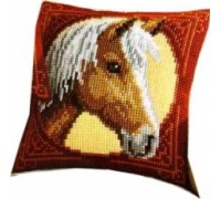 Horse Chunky Cross Stitch Cushion - 1200/995