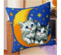 Moon and Kittens Chunky Cross Stitch - 1200/776