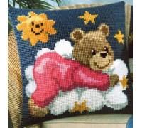 Pink Sleepy Bear Chunky Cross Stitch - 1200/611
