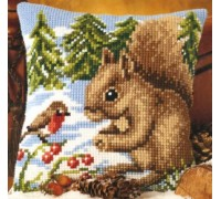 Squirrel and Robin Chunky Cross Stitch - 1200/764