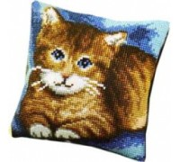 Tabby Cat Chunky Cross Stitch Cushion - 1200/987