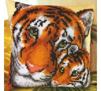 Tiger and Cub Chunky Cross Stitch - 1200/754