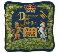 Diamond Jubilee Tapestry Sampler - Indigo - indigo blue