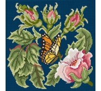Rose Garden Butterfly - Indigo Blue