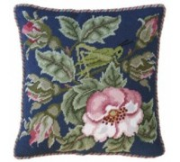 Rose Garden Grasshopper - Indigo Blue