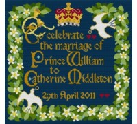 Royal Wedding Tapestry Sampler - Indigo Blue