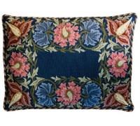 William Morris Flower Border Tapestry - Indigo Blue