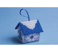 Blue and silver Gingerbread House