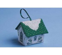Green and Silver Gingerbread House