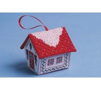 Red and Silver Gingerbread House