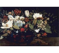 Basket of Flowers by Courbet - Chart or Kit