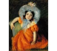 Child in Orange Dress - Chart or Kit