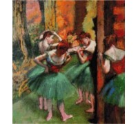 Dancers in Pink and Green II - Chart or Kit