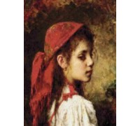 Girl With Red Kerchief - Chart or Kit