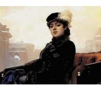 Portrait of a Woman by Kramskoy - Chart or Kit
