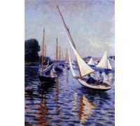 Regatta at Argenteuil by Caillebotte - Chart or Kit