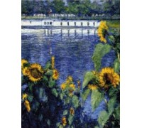 Sunflowers on the Seine - Chart or Kit