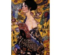 Woman with Fan by Klimt - Chart or Kit