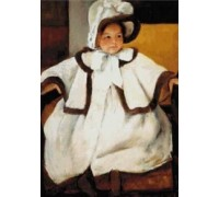 Young Girl in White Coat - Chart or Kit