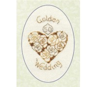 Golden Wedding Card - CDG16