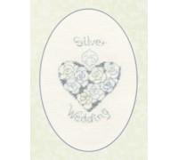 Silver or Diamond Wedding Card - CDG14