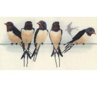 Swallows - BB05 - 14ct