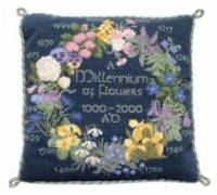 1000 Years of Flowers Tapestry (blue) - CF