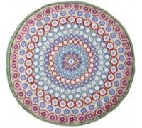 Millefiori Green Round Tapestry Cushion - CGM