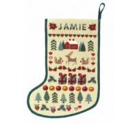 Christmas Stocking Sampler Tapestry - SS