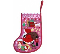 Starry Christmas Stocking - Pink - SSP
