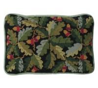 Black Acorns Lumbar Tapestry Cushion - OCZA
