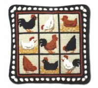 Black Hens Tapestry - CH