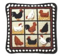 Black Hens Tapestry - CH